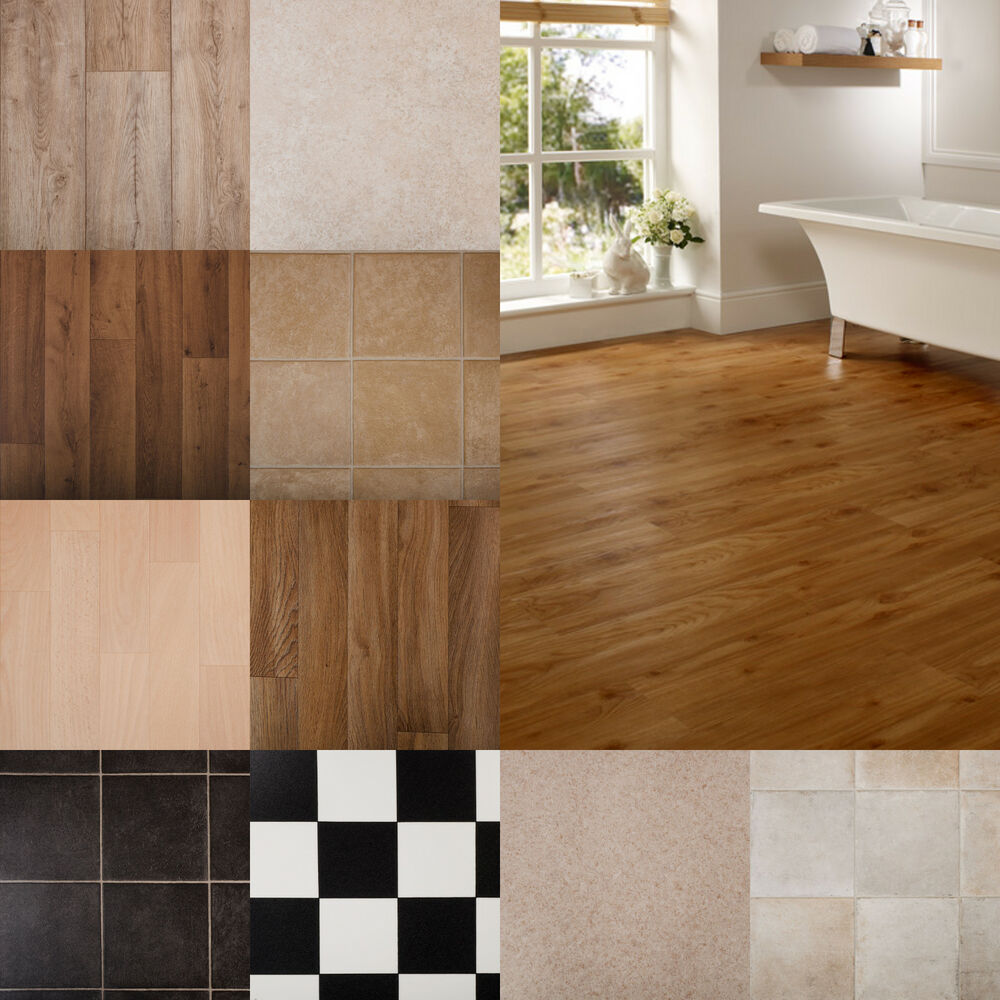 Premium Vinyl Pvc Kitchen Flooring Sheet Rolls Tile Wood
