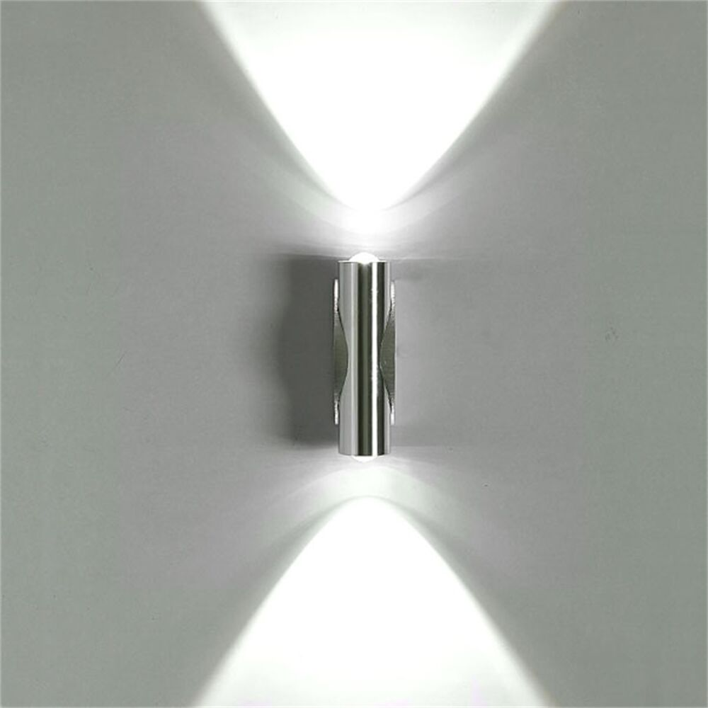 Solid Wall Lamp Led 3w Indoor Wall Light Aluminum Up Down: 2W Day White LED Wall Light Indoor Up Down Lamp Sconce