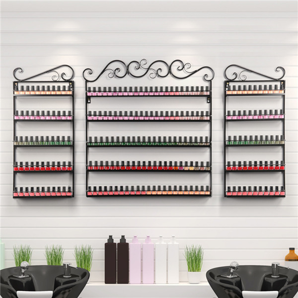 5 Tier Metal Nail Polish Display Organizer Wall Rack