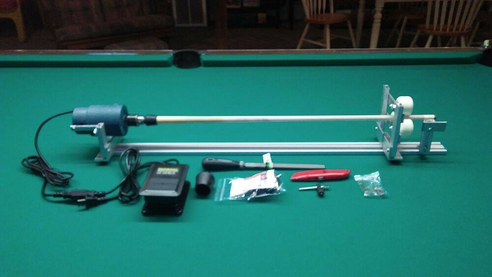 Sharpshooter Portable Pool Cue Lathe Tips Shaft Repair