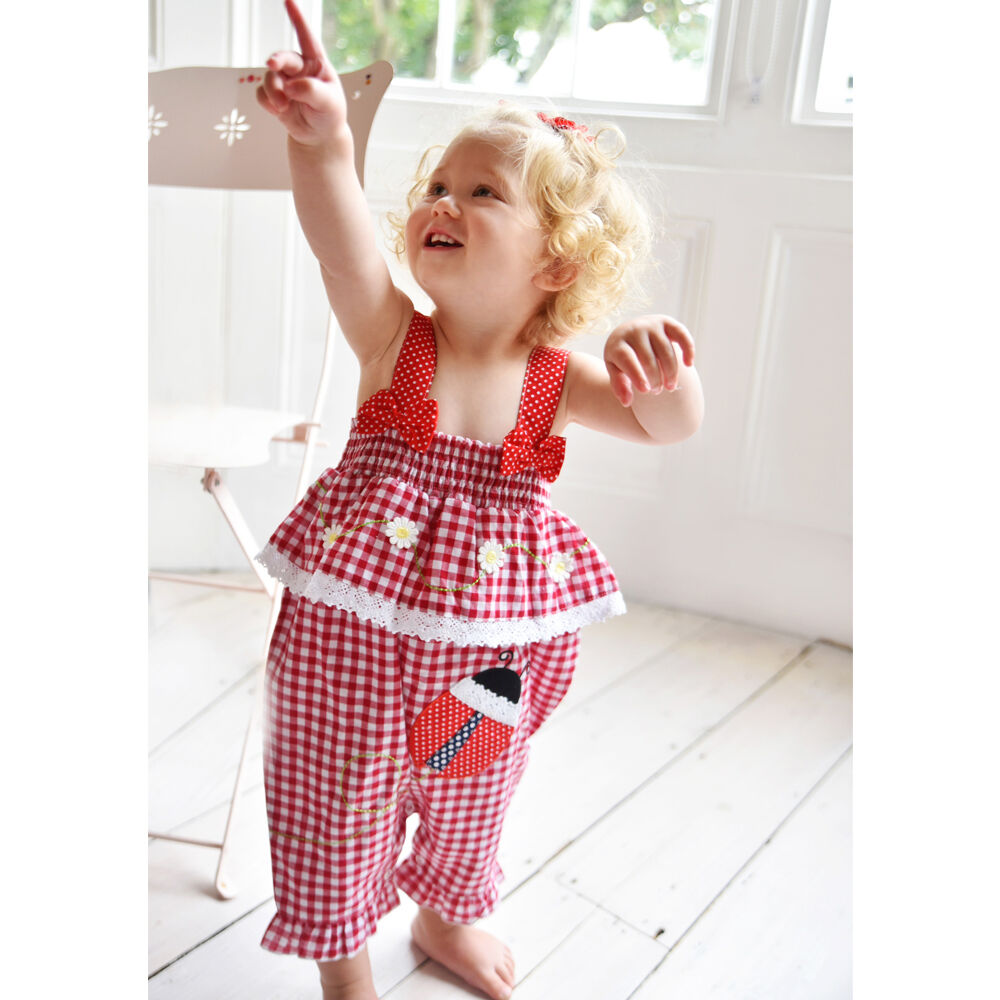 f35d01f3a Details about Newborn Infant Baby Girl Gingham Romper Jumpsuit Gingham  Summer Clothes 0-24 m