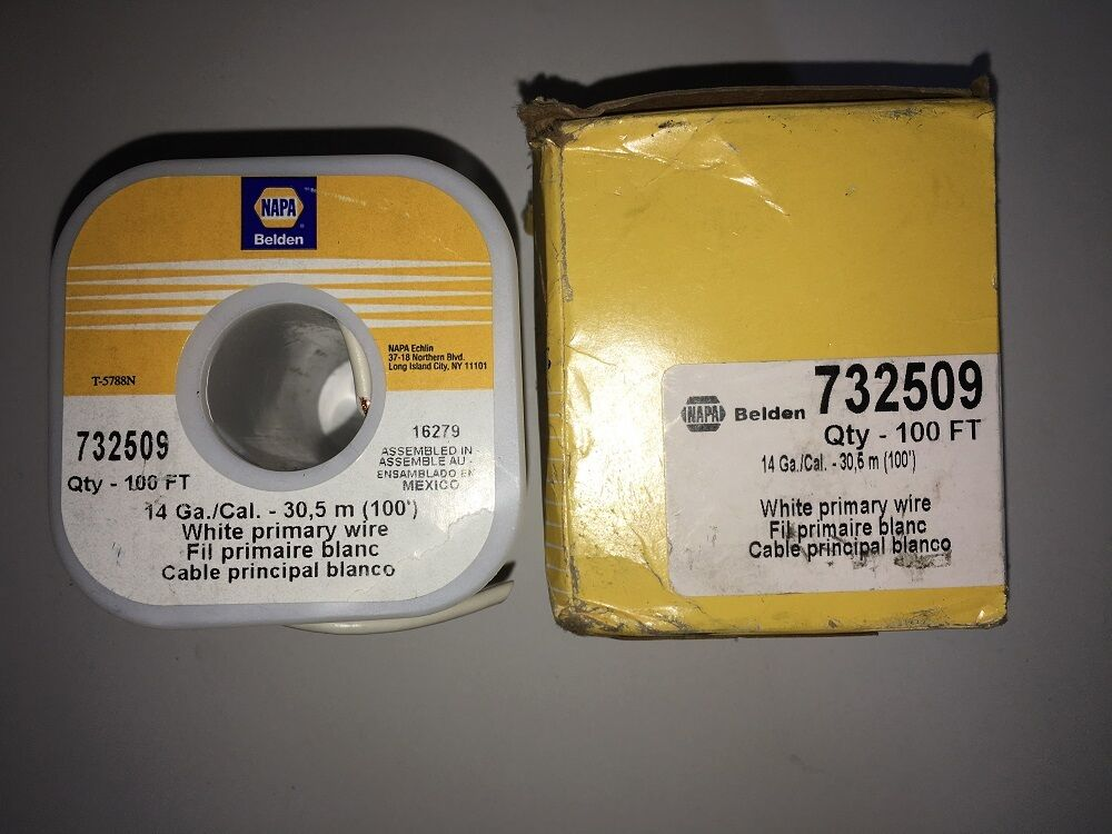 NEW 100 ft Copper Wire NAPA Belden 732509 14 Ga/Cal 30.5m White ...