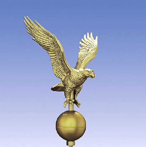 Outdoor Gold Flagpole Eagle 85in Tall with 12in Wingspan ... |Outdoor Gold Flagpole Eagle