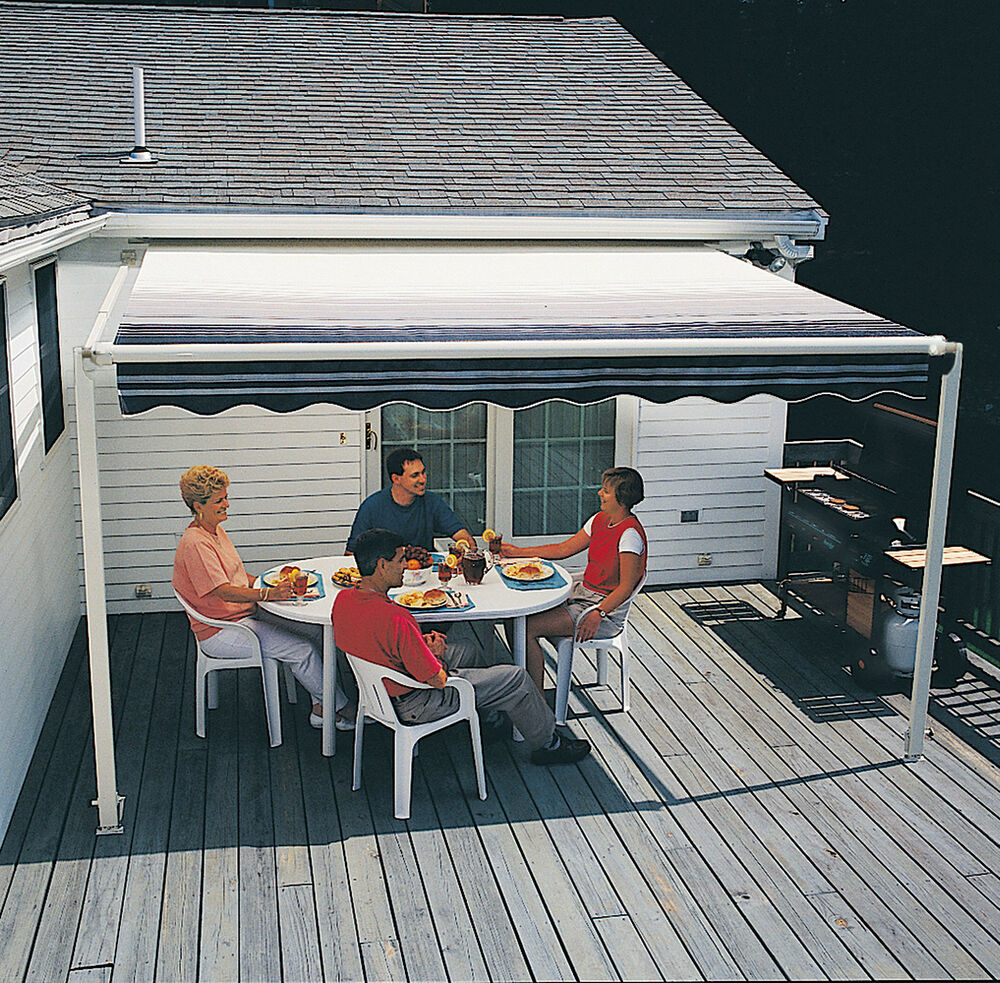 15-FT SunSetter 1000XT Retractable Awning, Outdoor Deck