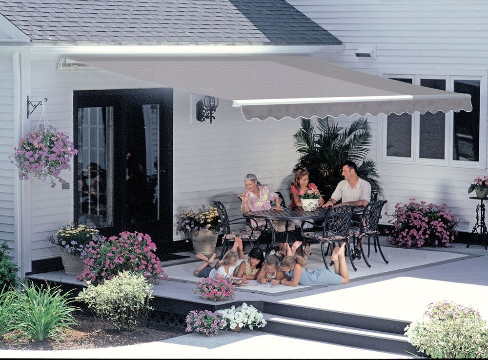 14-FT SunSetter Motorized Outdoor Retractable Awning by ...