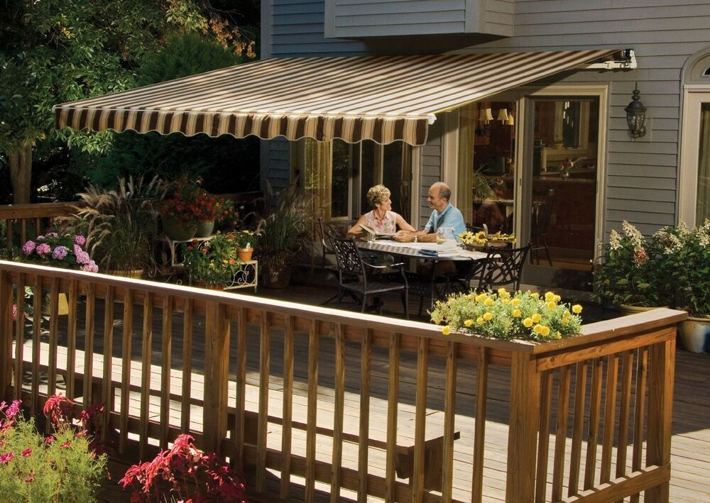 12' SunSetter Motorized Awning in Acrylic Fabric by ...