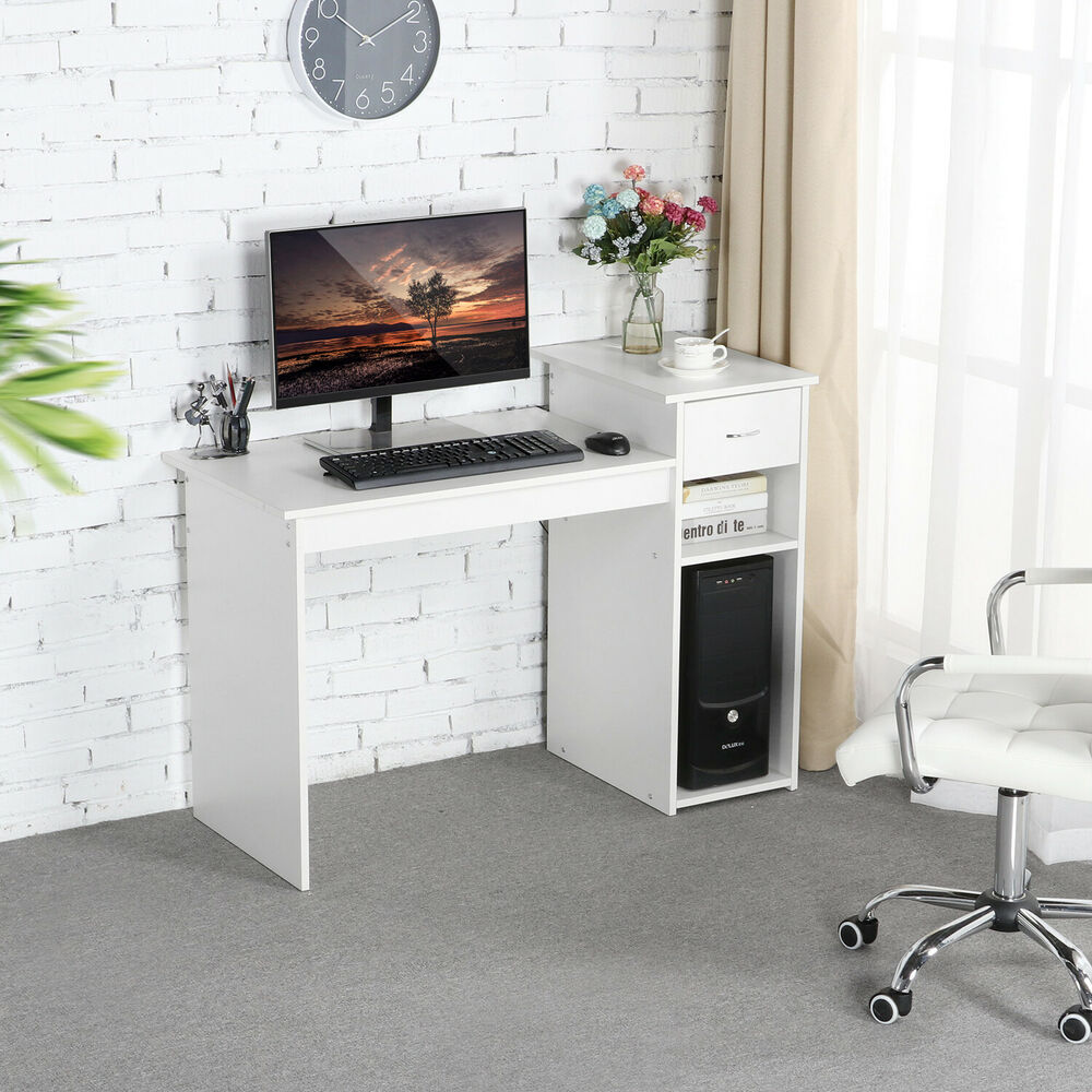 Computer Desk Pc Laptop Wood Table Home Office Study: Computer Desk Laptop Table W/Drawer Home Office Study Wood