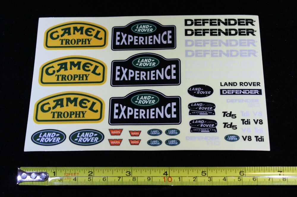 Decals For 1 10 Land Rover Defender D90 D110 Body Rc4wd Trx4 Ebay