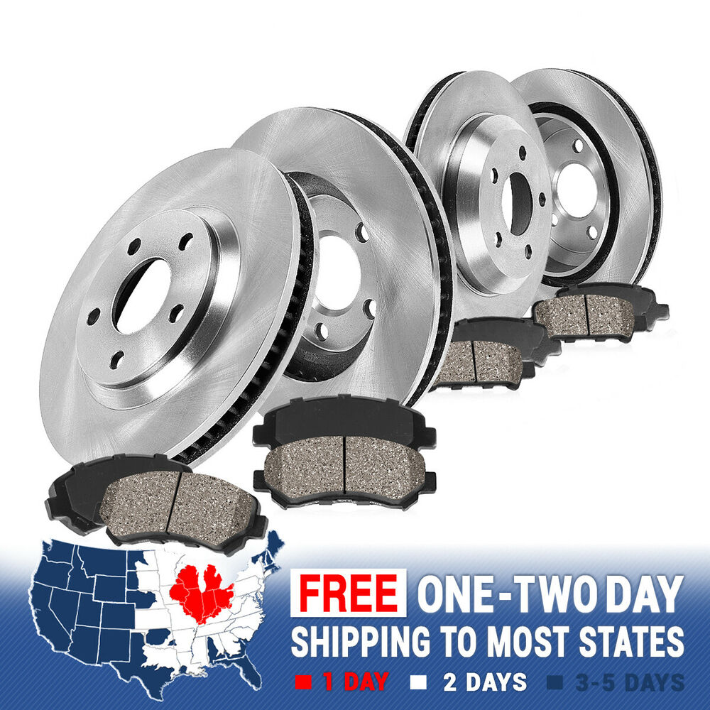 Fits Front And Rear Premium OE BRAKE ROTORS AND 8 CERAMIC