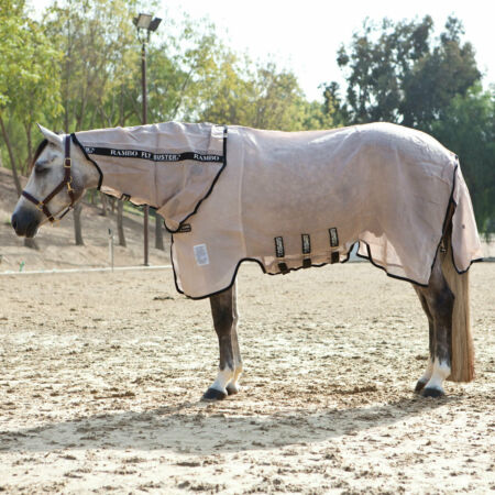 img-Horseware Rambo Fly Buster With Vamoose Insect Repellant Fly Rug Combo