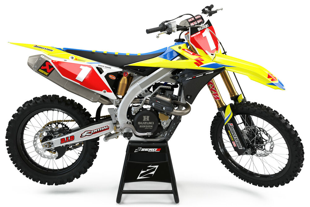 suzuki rm rmz 125 250 450 motocross mx graphics full kit. Black Bedroom Furniture Sets. Home Design Ideas