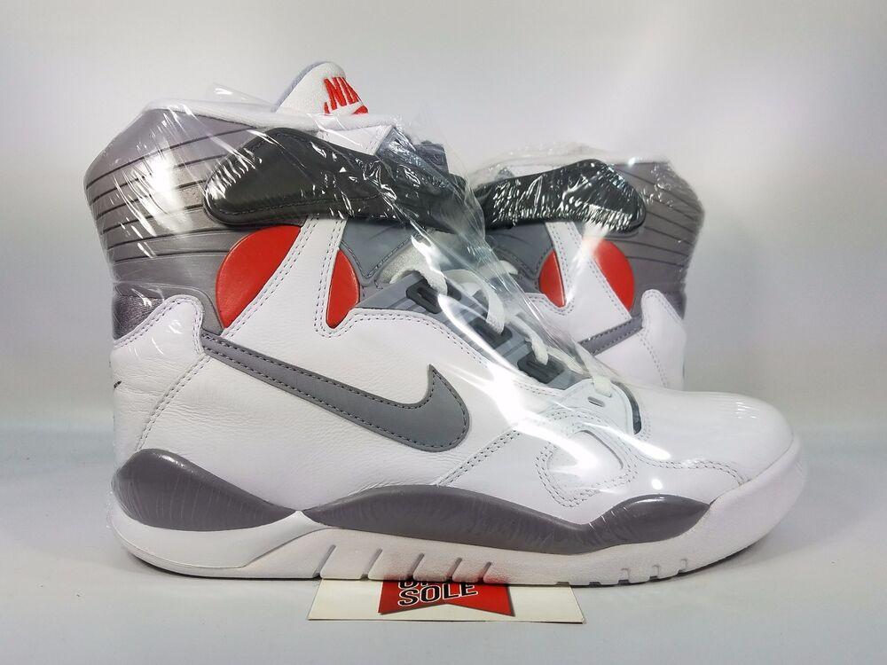 1a5b3e4d60d7 Details about Nike Air Pressure DAVID ROBINSON MAG MARTY MCFLY WHITE GREY  831279-100 sz 9.5