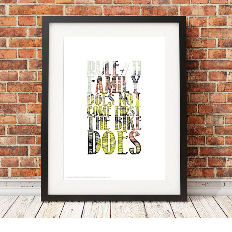 Sean Kelly quote ❤ CYCLING ❤ poster art Limited Edition Print in 5 ...