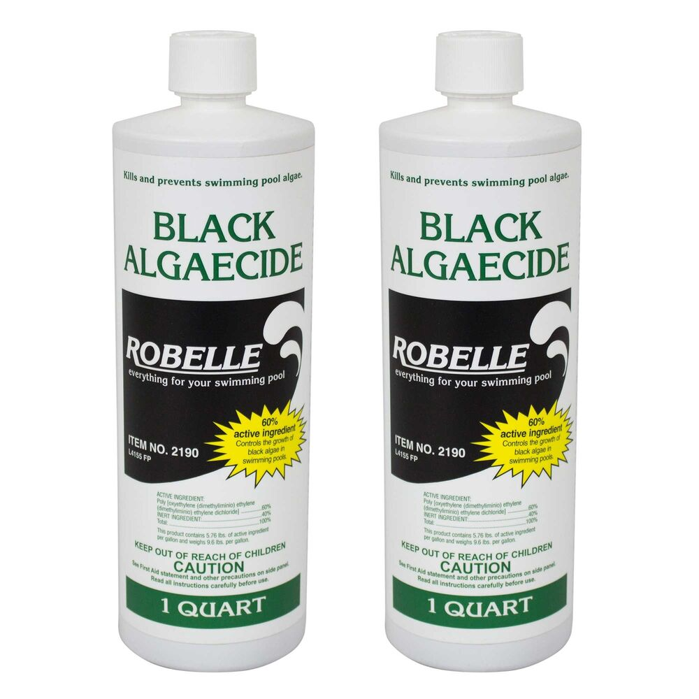 Robelle black algaecide 60 non foaming swimming pool algae control 2 quarts ebay Swimming pool algae treatment