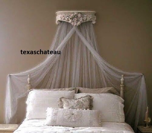 great ornate antique white bed crown wall canopy french regency chic vintage style new with diy bed crown canopy & Diy Bed Crown Canopy. Fabulous Dreamy Diy Bedroom Canopies With ...