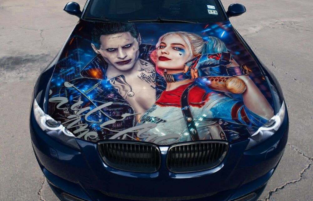 Vinyl Car Hood Color Graphics Decal Harley Quinn Joker