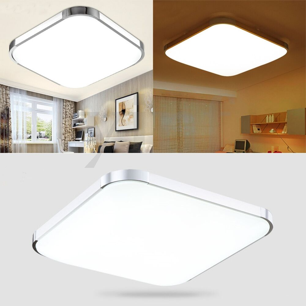 LED Ceiling Panel Down Light Modern Ultraslim Flat Wall Lamp Home Kitchen 1224W  eBay