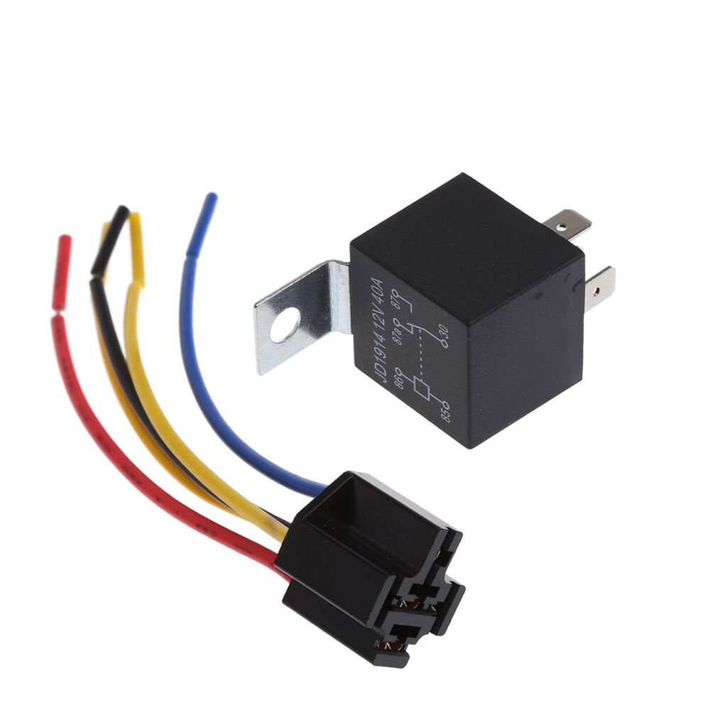 Waterproof Car Relay Dc 12v 40a 5pin Automotive Fuse Relay
