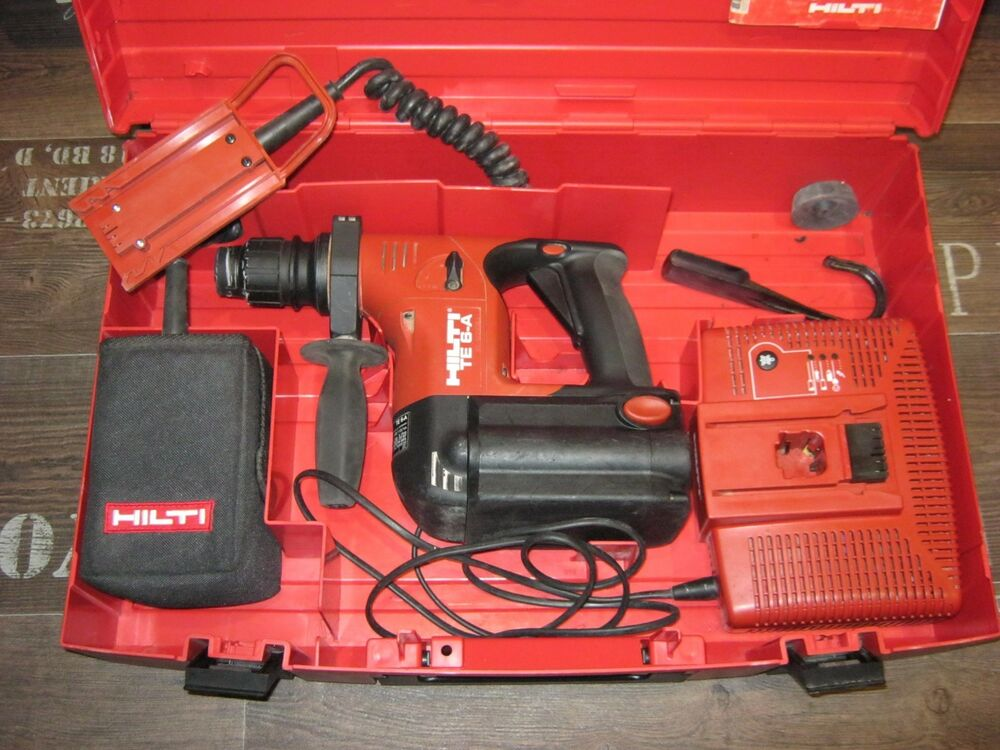 hilti akku bohrhammer te 6a akku mit neuen zellen g rteladapter ebay. Black Bedroom Furniture Sets. Home Design Ideas