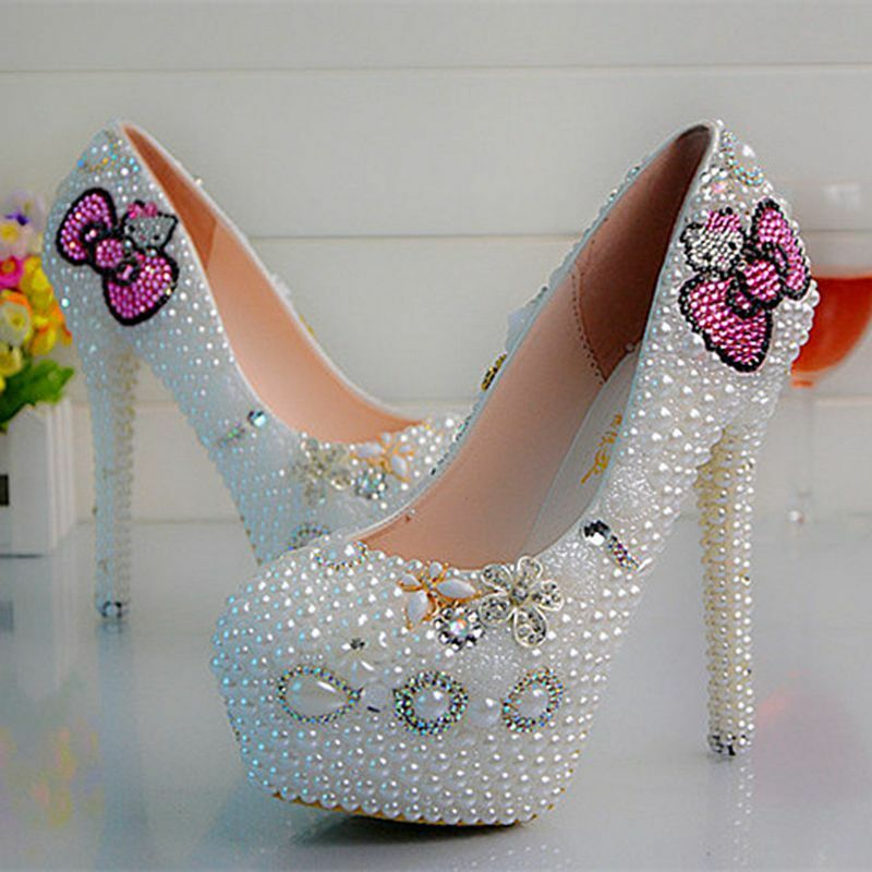 496d572a76fb3 Details about Girl Silver Bling Low High Heel Flat Bridesmaid Bridal  Wedding Crystal Prom Shoe