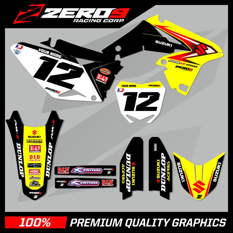 suzuki rm rmz 125 250 450 mx graphics motocross graphics. Black Bedroom Furniture Sets. Home Design Ideas