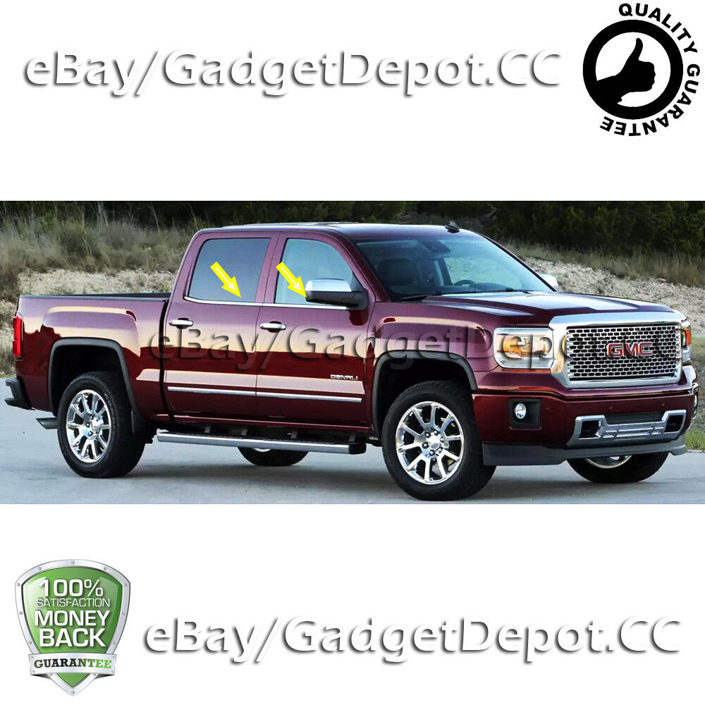 For 2014-2016 2017 GMC Sierra 1500 Crew Cab Stainless
