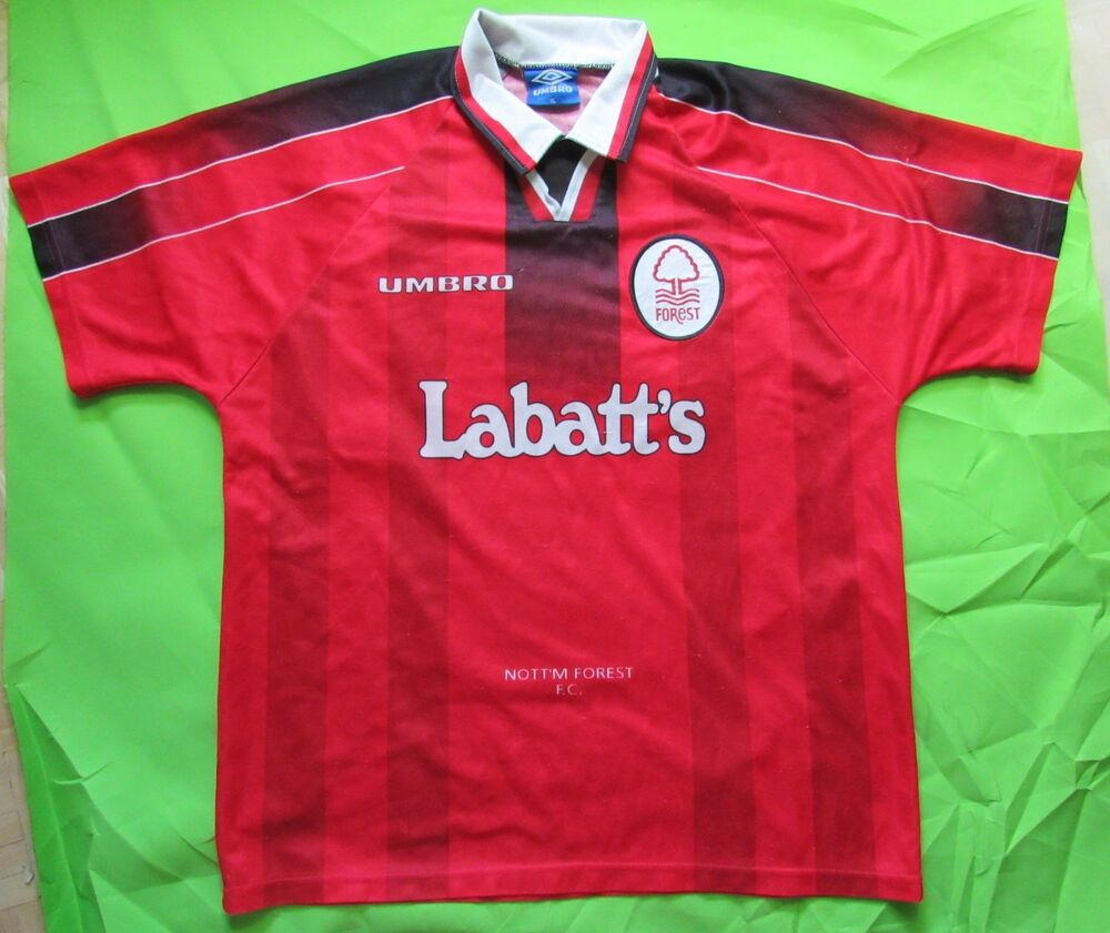 97b217446ce Details about 1996-1997 NOTTINGHAM FOREST home jersey shirt UMBRO RETRO The  Reds adult SIZE XL