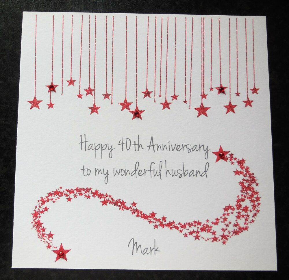 personalised handmade on our 40th ruby wedding anniversary