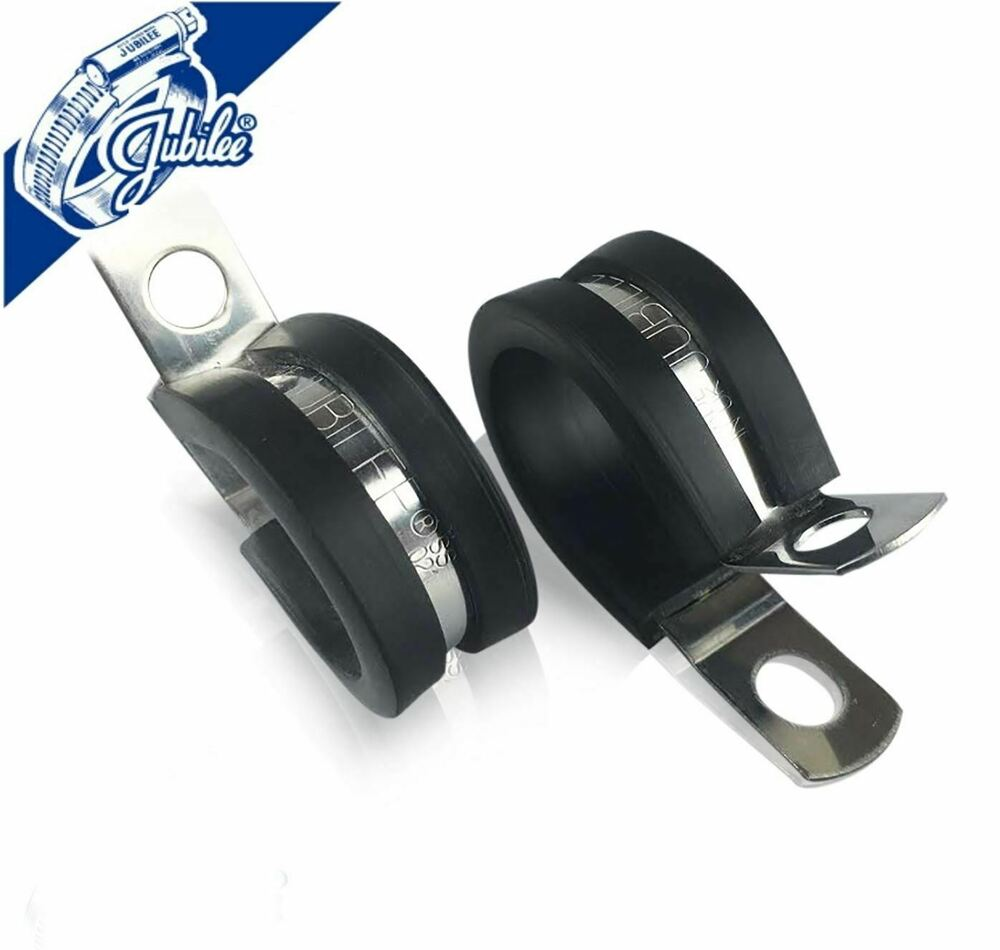Rubber lined p clips cable mounting hose pipe clamp