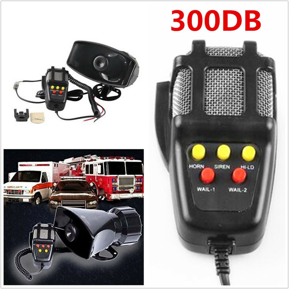 Details About Car Truck Electric Air Horn Siren Speaker 5 Sound Tone Super Loud 300db With Mic