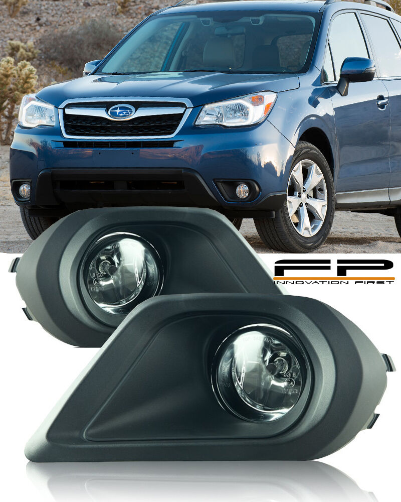 Details About For 2017 2016 Subaru Forester 2 5i Fog Lights Clear Complete Kit Switch Harness