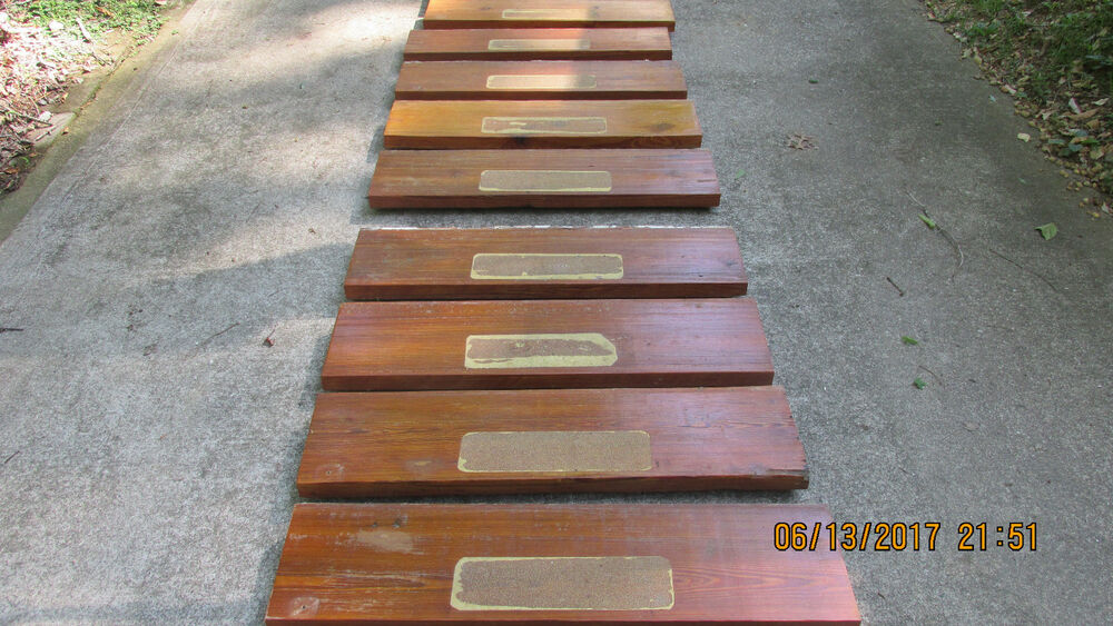 Antique Dade County Heart Pine Stairs 111 Yrs Old Barn Wood Stair Steps