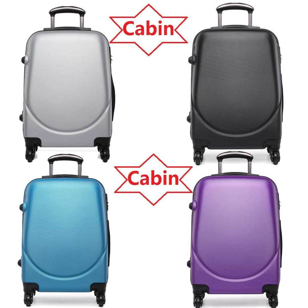 hard shell cabin size 20 39 39 suitcase hand luggage spinner. Black Bedroom Furniture Sets. Home Design Ideas