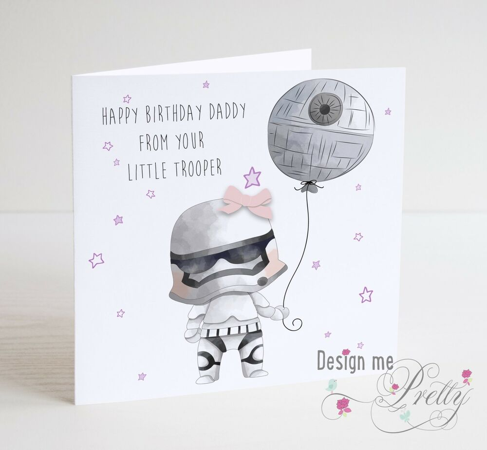 Details About STAR WARS Birthday Card For DAD