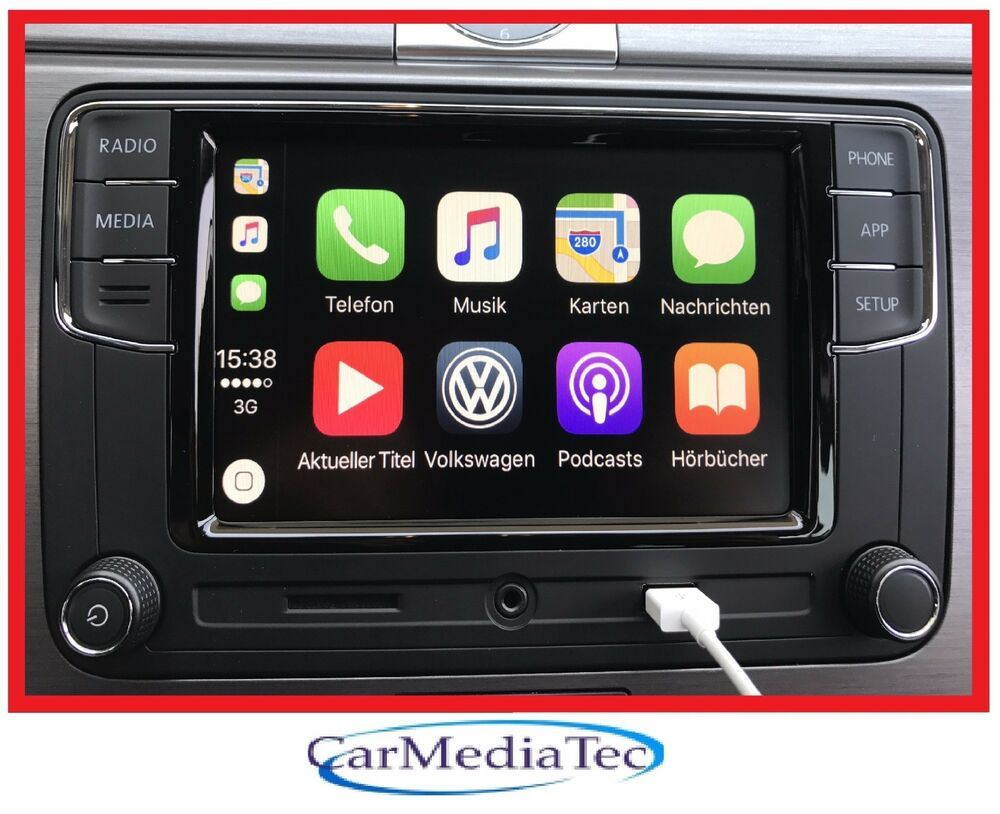 original vw radio freisprechanlage apple carplay rcd330. Black Bedroom Furniture Sets. Home Design Ideas