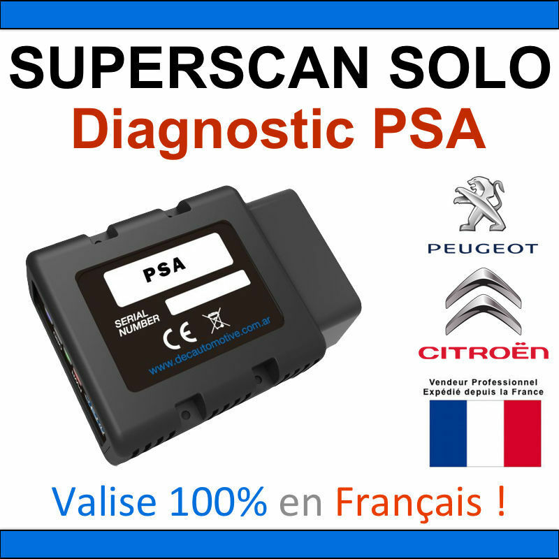 dec superscan solo psa valise diagnostic obd2 diagbox lexia pp2000 autocom ebay. Black Bedroom Furniture Sets. Home Design Ideas