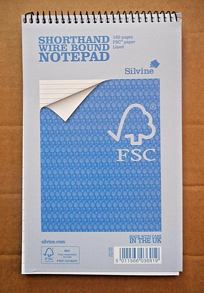 Silvine Shorthand Notepad Ruled 160 Pages 80 Sheets 5011566036919 | eBay