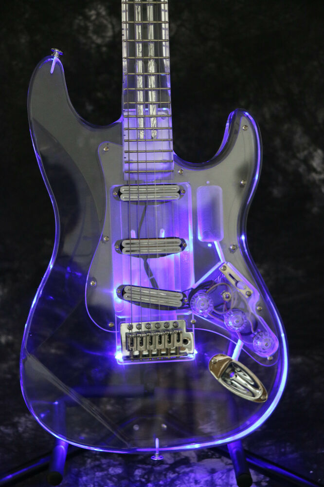starshine sr mst 203 st full acrylic led light electric guitar crystal guitar 6651582083413 ebay. Black Bedroom Furniture Sets. Home Design Ideas