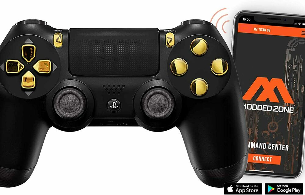 Black  Gold Ps4 Pro 40 Mods Modded Controller For Cod Games