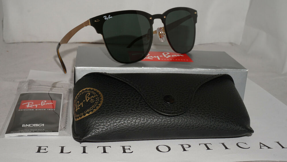 32f29affd3d44 Details about RAY BAN New Sunglasses Blaze Clubmaster Gold Green Classic  RB3576N 043 71 47 140