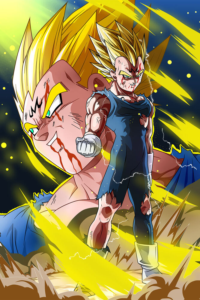 Dragon ball super z poster majin vegeta 12in x 18in free and fast shipping ebay - Dragon ball z majin vegeta wallpaper ...