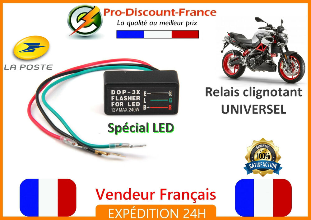relais centrale clignotant moto scooter buggy quad 12v 240w led leds clignotante ebay. Black Bedroom Furniture Sets. Home Design Ideas