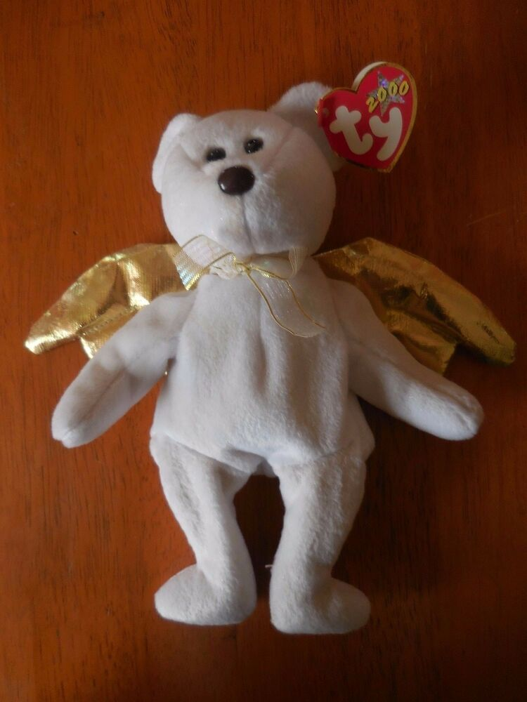 Details about Retired TY Beanie Baby Angel Bear HALO 2 II 2000 with TAGS 31ed128668d