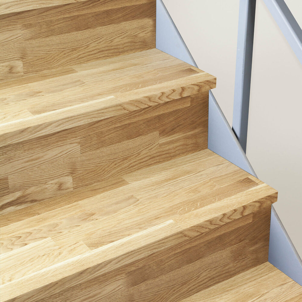 Solid Oak Timber Stair Cladding   995mm Staircase Tread Refurbishment Kits