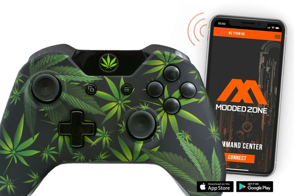 420 BLACK Xbox One Rapid Fire Modded Controller 40 Mods ... Xbox 360 Controller Red Chrome