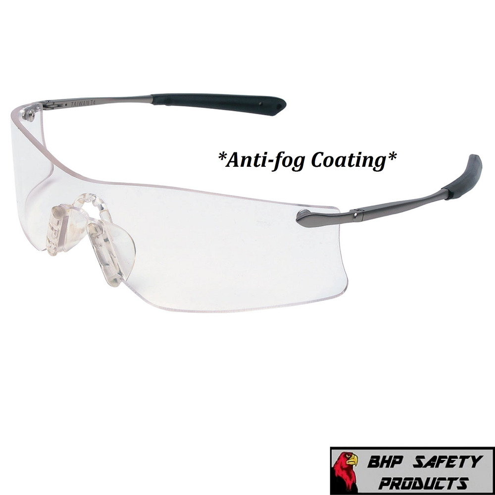 d2544e7c207 Details about MCR CREWS RUBICON SAFETY GLASSES T4110AF CLEAR ANTI-FOG LENS  METAL WORK EYEWEAR