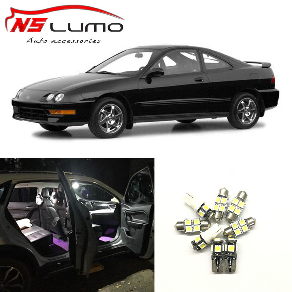 8x White LED Light Bulbs Interior Package Kits For Acura