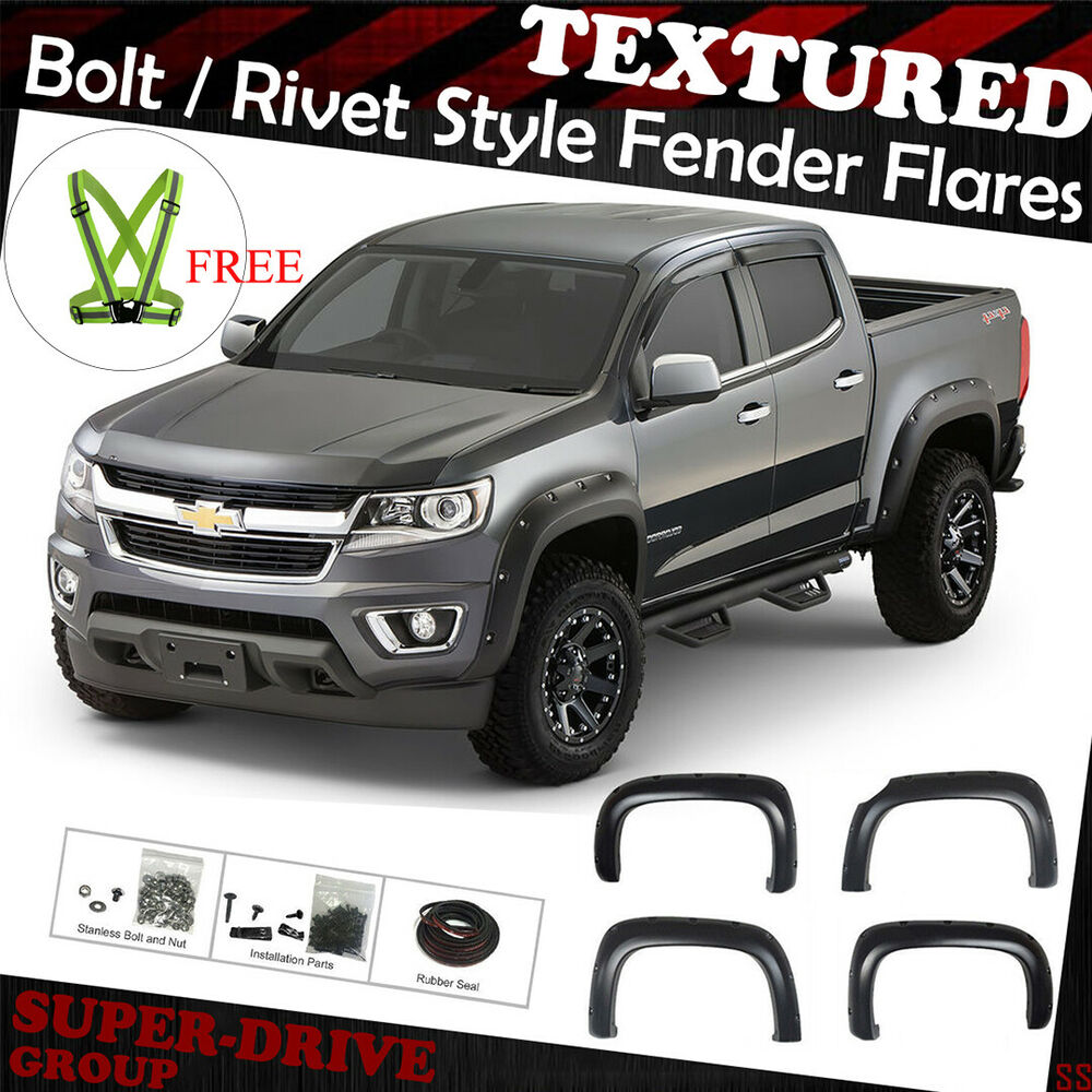 Textured Pocket-Riveted Fender Flares For 2015-2018 Chevy