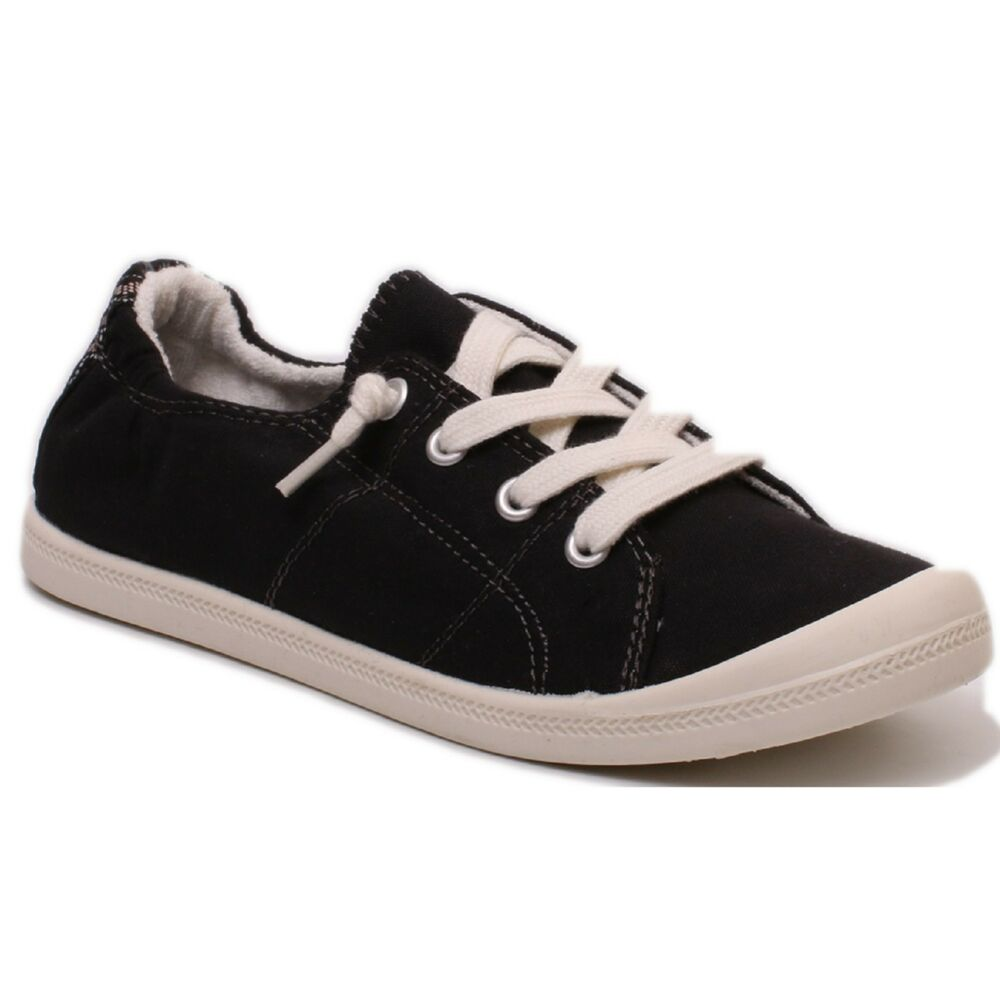 52c03ba6c03 Details about Women Madden Girl BAAILEY Black Fab Lace Up Athletic Sneaker  Shoes