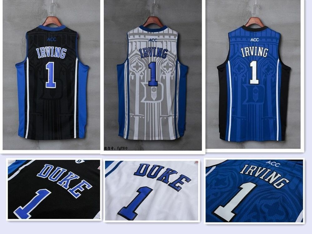 88c0ffd8b93a Kyrie Irving  1 NCAA Duke Blue Devils Men Stitched Basketball Sewn S-XXL  Jersey
